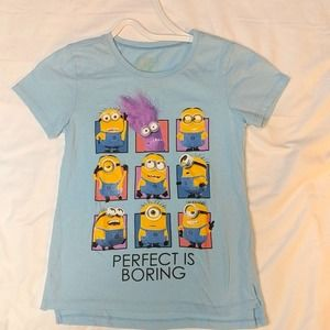 Despicable Me girls shirt size 14